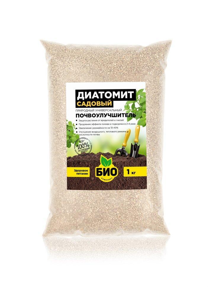 Почвоулучшитель и природный инсектицид диатомит садовый 1 кг