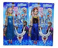 Немного повреждена!!! YS817 Кукла Холодное сердце 2 вида (Анна и Эльза) с акссе. 34*20см