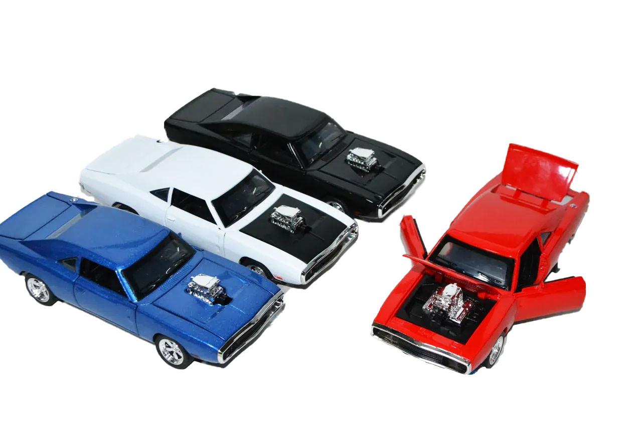 32121 DODGE машина металл модель 4 вида(двери,капот багаж открыв,звук) из 12шт 15*17см