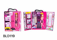 BLD119 Шкаф для одежды Барби Kaibibi 30*26см