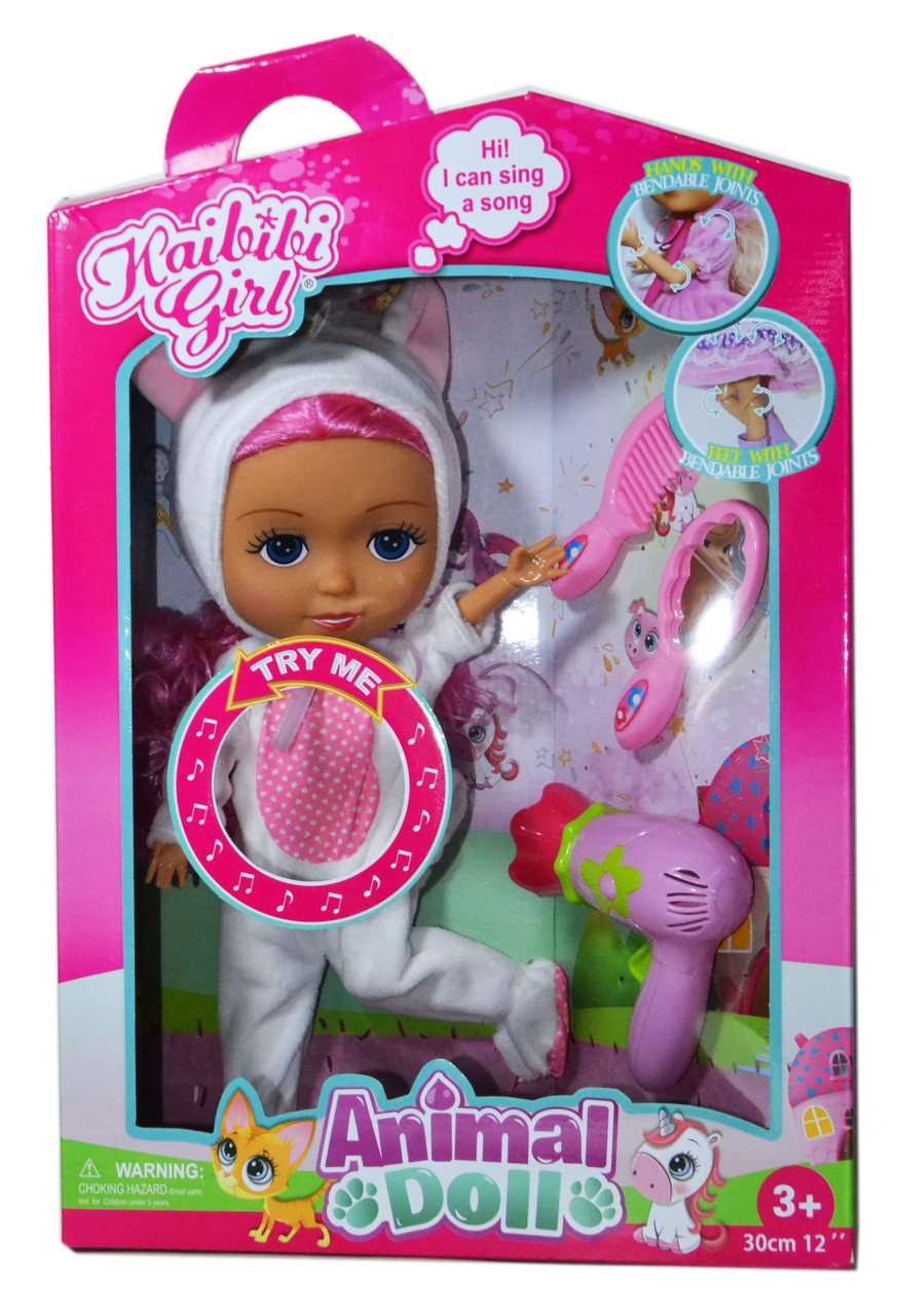 BLD 280-2 Кукла одежда единорога с аксесс. (руки,ноги сгибаются) 39*27см