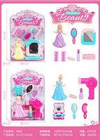 9863 Фен н-р и принцесса на картонке (6 предметов) 31*21см