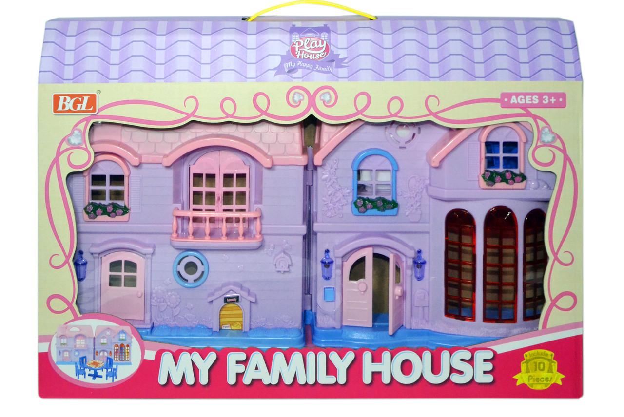 Помятая упаковка!!! 80613 Домик с мебелью My Family House 49*32см