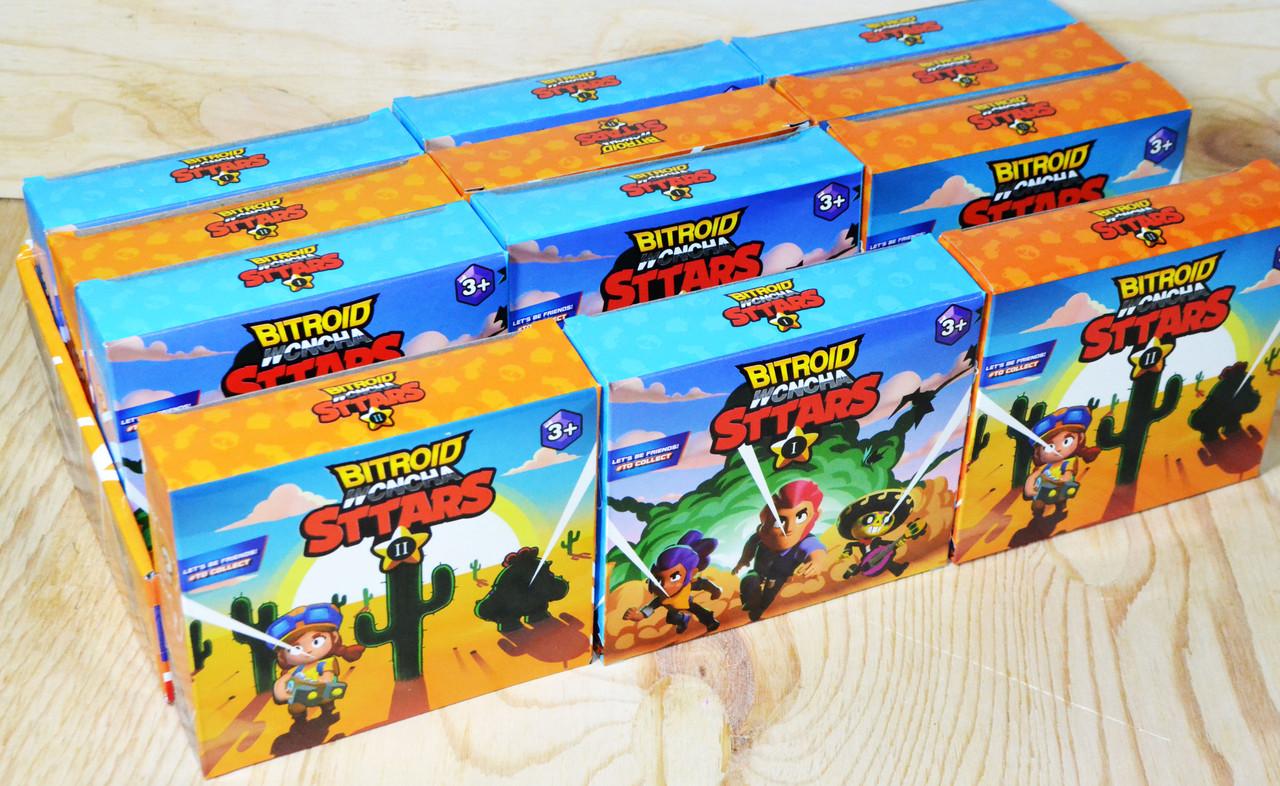 H05 Brawll Star Бравл Старс 2 героя в коробке 12шт в уп.,цена за 1шт 12*13см