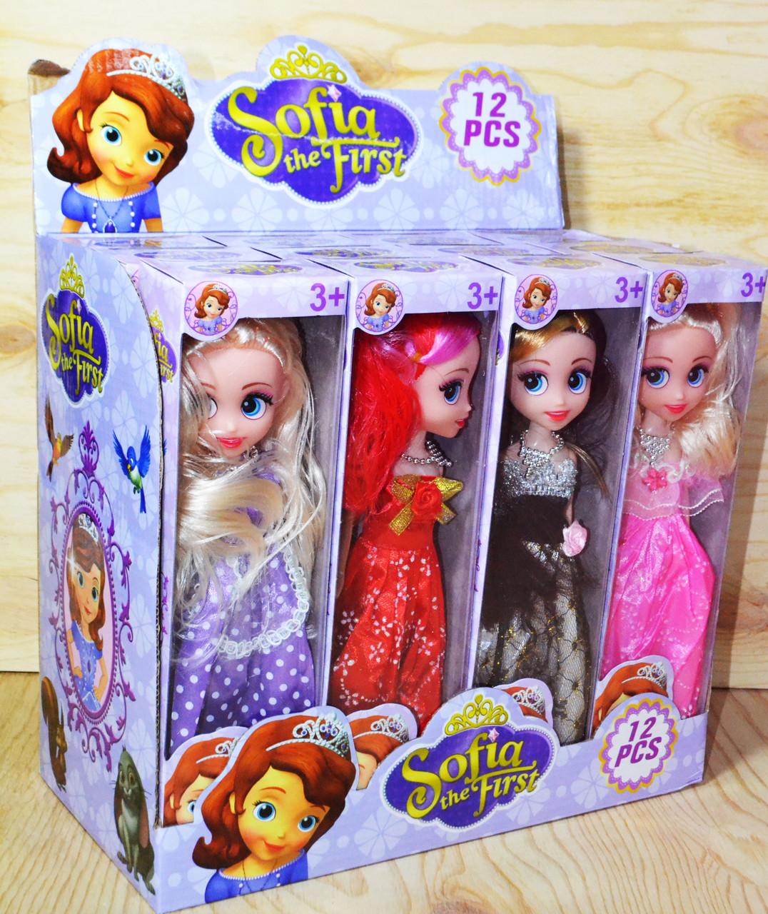 8781 София кукла 4 вида 12шт цена за 1шт 26*7см