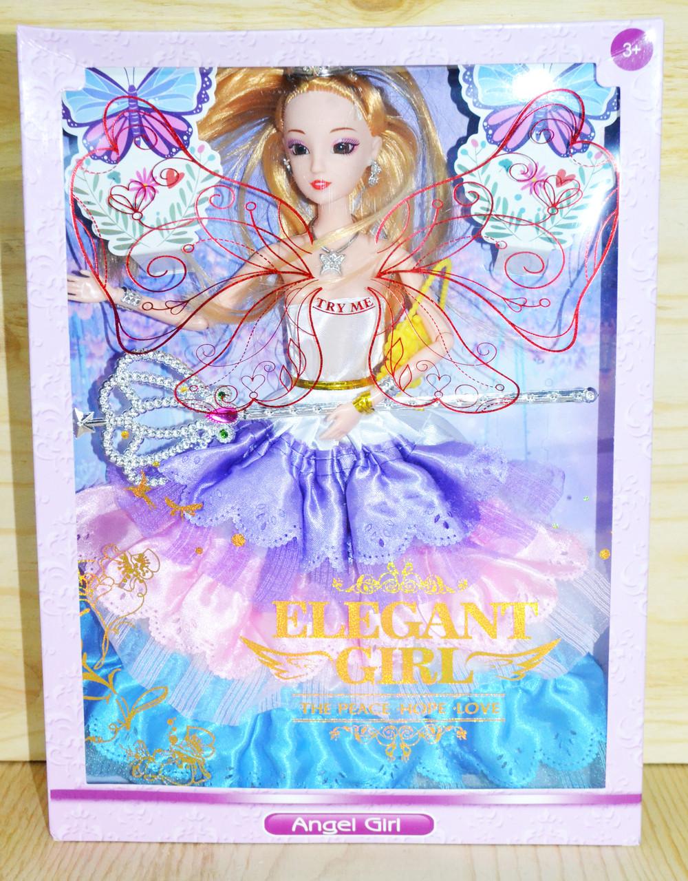 099-5 Кукла Angel Girl-Elegant Girl с волшебной палочкой в пышном платье 32*24см