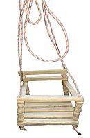 Качеля (32*28см) из дерева  с веревкой