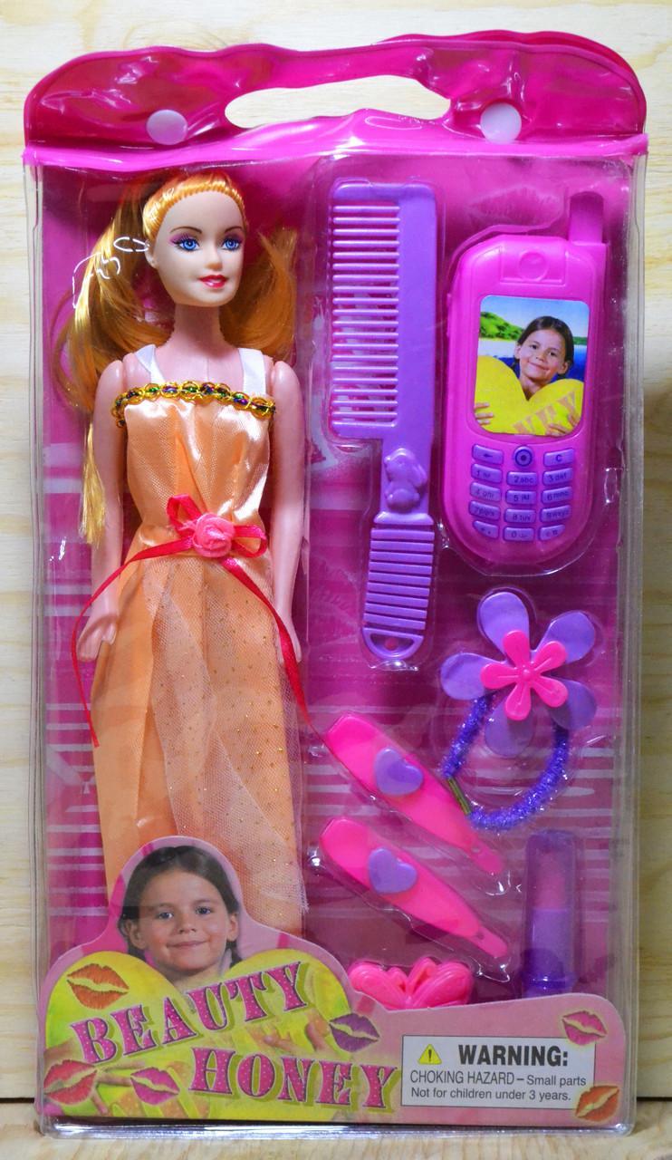 A234/A235 Beauty honey кукла с аксесс. в сумочке 33*18см