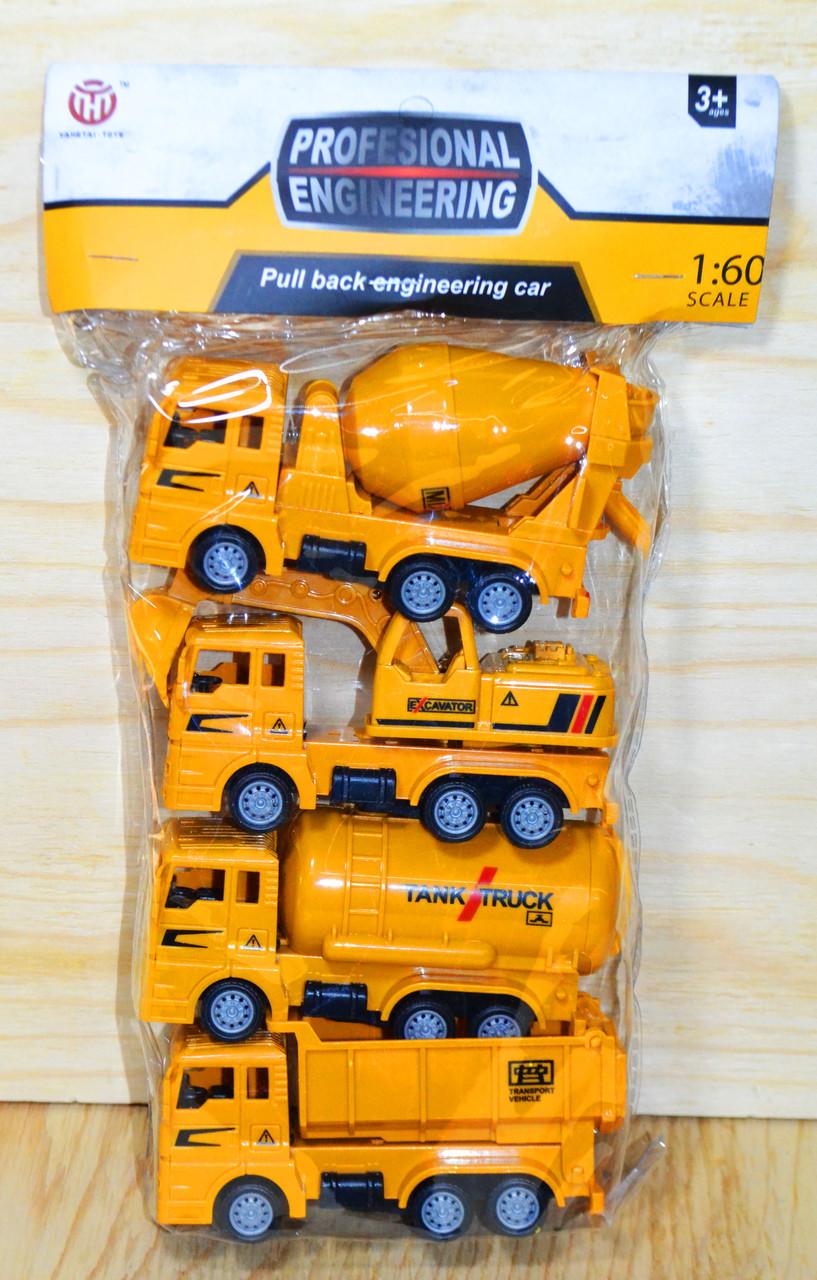 2201 Строительная техника 4шт в пакете, Professional enginering  29*17см