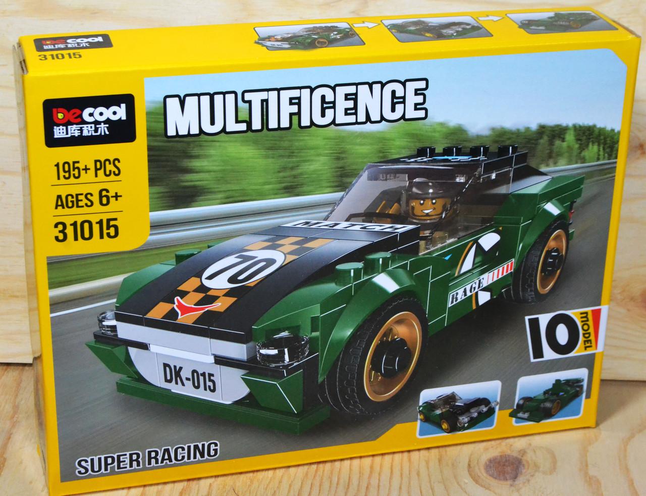 31015 Констр. Зеленая гоночная машина (можно собрать 10модели), Multificence 28*21см