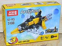3103 Констр. Самолет (можно собрать 3 модели) Jisi Bricks Architect 16*11см