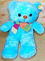 Мишка 50см разноцветный шарф (цвет:гол,роз)