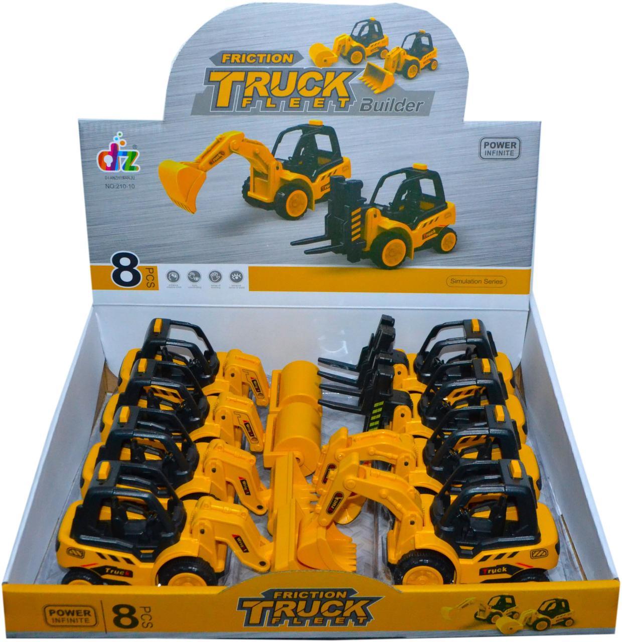 210-10 Строительная техника Truck Fleet Builder 4 вида из 8 штук цена за 1шт 17*10