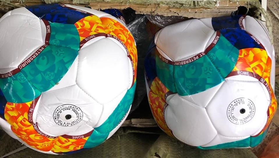 2020-39 Футбольный мяч цветные круглешки