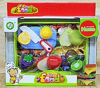 Немного помятая!!! NF583-13 Фрукты можно резать с подносом (5 фруктов доски и нож) Fast Food 31*29см