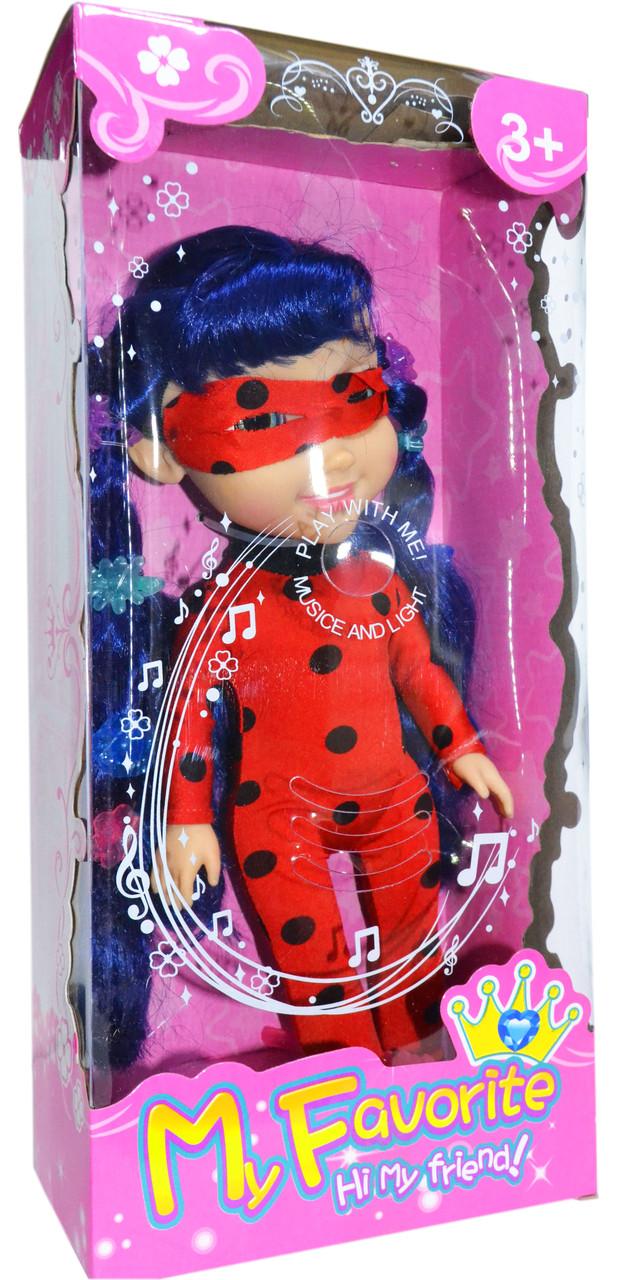 Кукла Леди Баг (волосы и платье светится) 37*17см