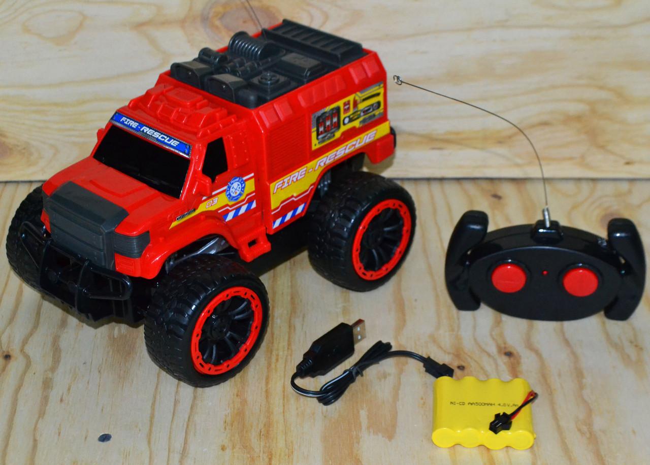 3699-J9 Пожарная машина на р/у, 4 функции, Fire rescue  31*17см