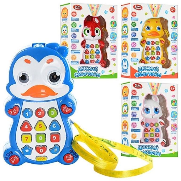 "7614 Игрушка-проектор ""Детский смартфон"" 4 вида 21*14см"
