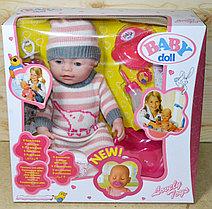 8001-569 Baby Doll пупс с горшком в вязанном комбинезоне ,9 функций,(отправ. в разобран.виде)37*37см