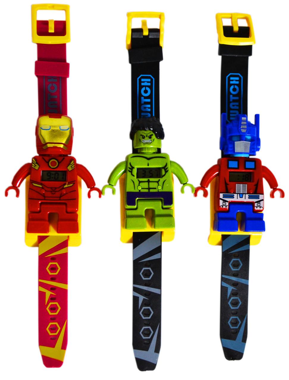 JEQ801A-1 Часы мстители с лего героями 5 видов 28*18