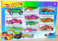 1604-9 Хотвилс 10 машин меняют цвет Hot Wheel Color Shifters 28*19см