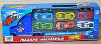 K136A Трейлер +12 спорт. машин металл Alloy Models 37*13см, фото 1