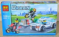 10417 конструктор Urban Police погоня за преступником, 128дет,26*16см