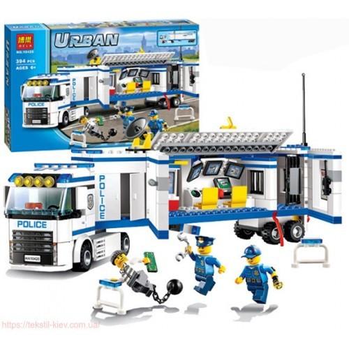 10420 конструктор URBAN трейлер полицейская станция погоня за преступником 394дет, 41*28см