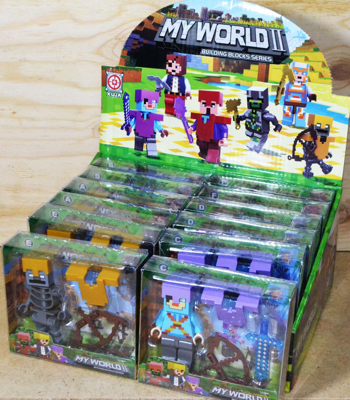 19-22 Майнкрафт мстители герои 12шт в уп.,цена за 1шт