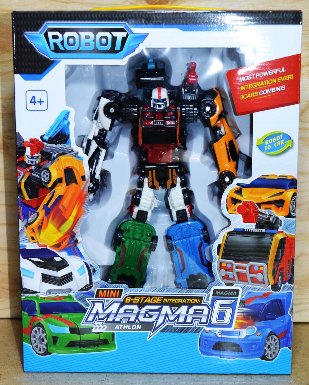 535 Робот трансформер 6в1 Mini Magma 33*25см