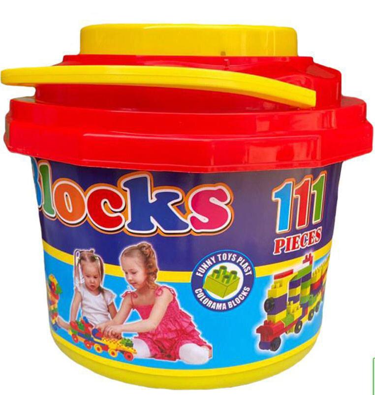 Blocks конструктор в ведре 111дет 21*20см