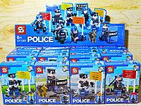 1488 Police конструктор 8 видов, 16шт в уп.,цена за 1шт 13*10см
