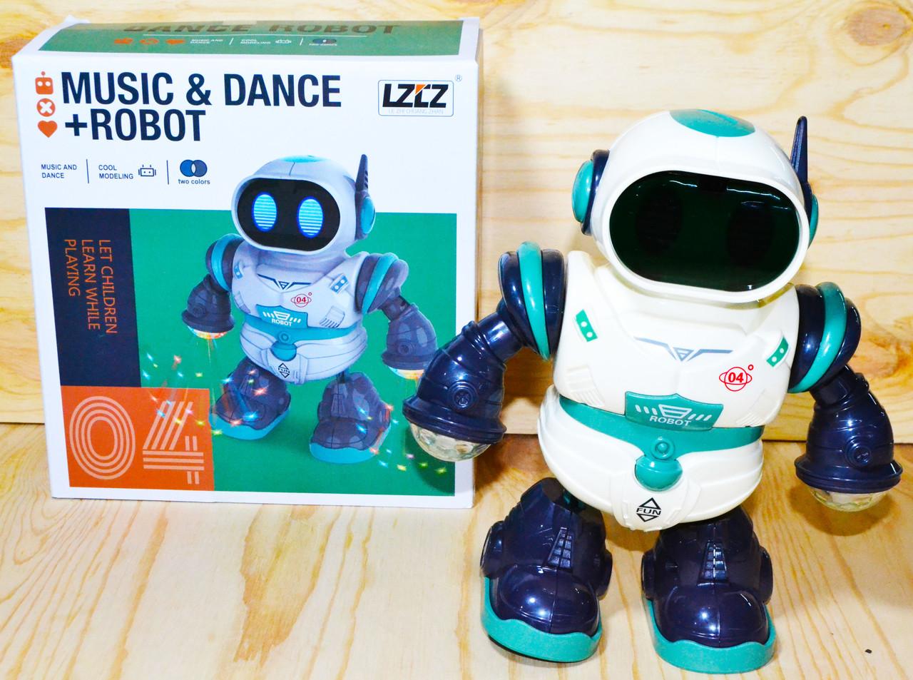 6678-4 Dance-Robot робот: танцует,музыка,свет 21*20см