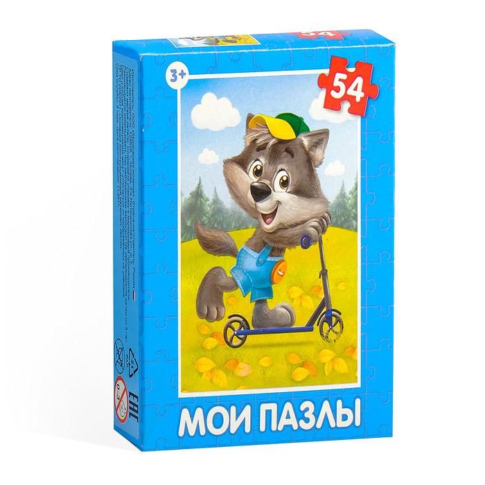 Пазл детский «Весёлые животные», 54 элемента, МИКС 9*7см