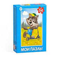 Пазл детский «Весёлые животные», 54 элемента, МИКС 9*7см, фото 1