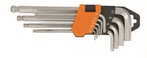 Набор ключей шестигранных с закруглённым жалом в пластиковом подвесе X-Spark