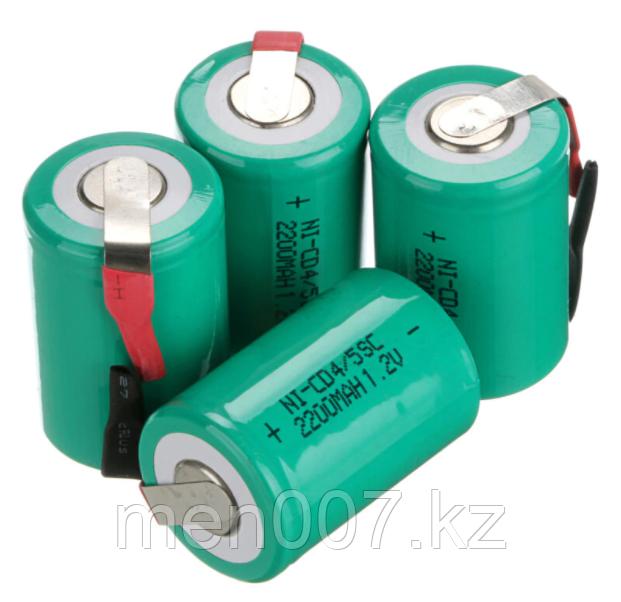 Никель-кадмиевые батарейки 3.3 см x 2.2 см