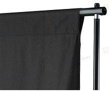 Студийный тканевый черный фон 2,3 м × 2,3 м, фото 2
