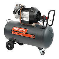 PATRIOT Компрессор Patriot поршневой масляный Professional 100-400, 400 л/мин, 8 бар, 2200 Вт, 100 л,