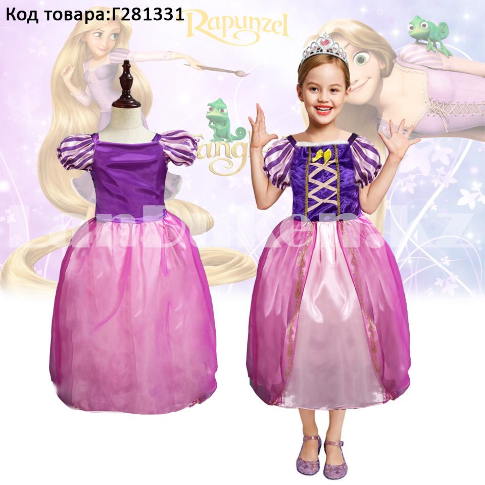 Костюм детский карнавальный Рапунцель принцесса для девочек фиолетовое BN-8002 - фото 1