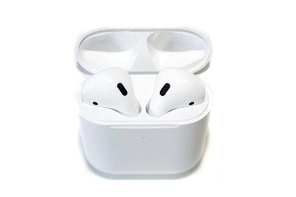 Bluetooth гарнитура Hoco Air ES49, стерео, бокс с аккумулятором, цвет белый