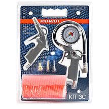 Набор пневмоинструмента Patriot KIT 3C, фото 2
