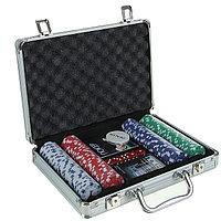 Покерный набор в металлическом кейсе на 200 фишек
