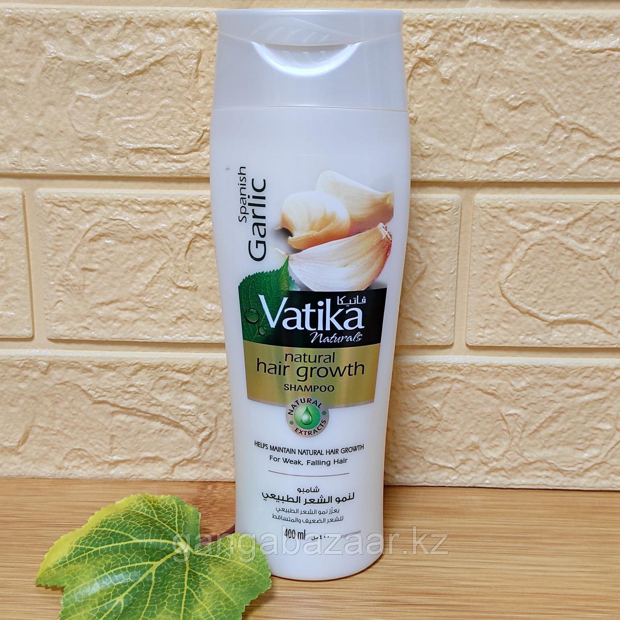 Шампунь Ватика Дабур с чесноком - природный ускоритель роста волос, 400 мл