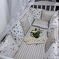 Бортики,простынь,подушка,одеяло-конверт отдельно на заказ от 6000 тг
