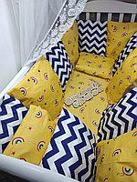 Бортики,простынь,подушка, без одеяло ,одеяло-конверт отдельно на заказ от 6000 тг