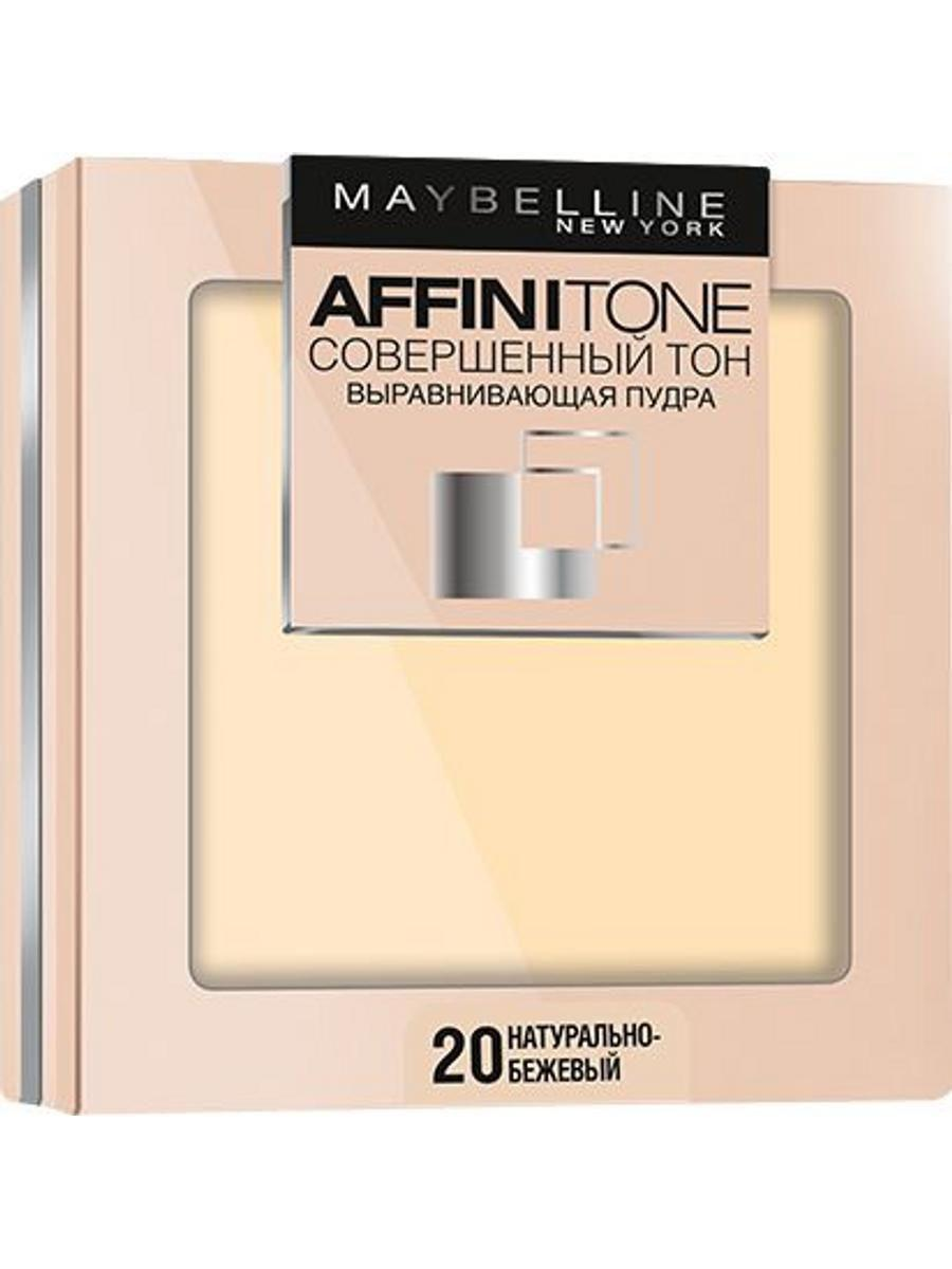 MAYBELLINE Выравнивающая пудра AffiniTone от Maybelline, тон 20 натурально-бежевый