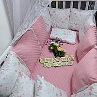 Бортики-защита,простынь анатомическая подушка, одеяло-конверт отдельно на заказ от 6000 тг