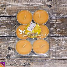 Ароматические свечи. Материал: Натуральный воск. Цвет: Оранжевый. Упаковка: 6шт.