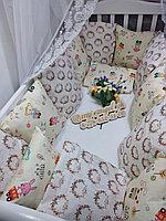 Бортики-защита,простынь,подушка